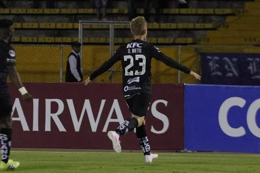 Daniel Nieto de Independiente del Valle, autor del gol que les daba la ventaja.